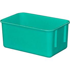 "Molded Fiberglass Toteline Nesting Tote 926108 - 9-3/4""L x 6-1/8""W x 4-1/2""H, Green"
