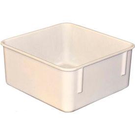 "Molded Fiberglass Toteline Nesting Tote 923108 - 9-3/4""L x 9-1/4""W x 4-1/2""H, White"
