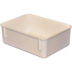"Molded Fiberglass Toteline Nesting Tote 920108 - 11-3/4""L x 8-3/4""W x 4-1/8""H, White"