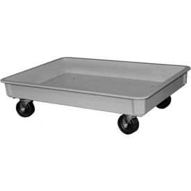 "Molded Fiberglass Toteline Dolly 870148 for - 25-3/4""L x 17-3/4""W x 3""H Tote, Gray"