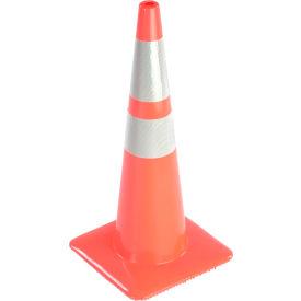 "36"" Traffic Cone W/ Custom Imprinting, Reflective, Orange, 10lbs, 3650-08-MM-L - Pkg Qty 50"