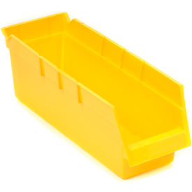 Plastic Shelf Bin 4 X 18 X 4 Yellow