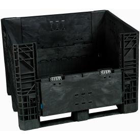 Buckhorn Folding Bulk Shipping Container - BI4840392010000 - 48x40x39 1600 Lbs. Black