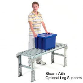 "Omni 1-3/8"" Dia. Aluminum Roller Conveyor Straight Section RAHS1.4-18-6-10"