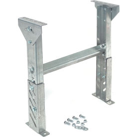 """Omni 1.9"""" Roller Conveyor Leg Support 18""""W with 18"""" to 24""""H"""