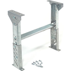 """Omni Metalcraft 2.5"""" Roller Conveyor Leg Support 18""""W I.D. with 22"""" to 28""""H"""