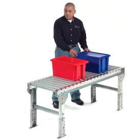 "Omni Metalcraft 1.9"" Dia. Steel Roller Conveyor Straight Section GPHS1.9X16-24-9-10-LL"