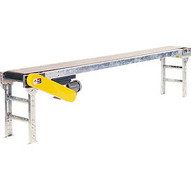 "Omni Metalcraft Powered 24""W x 10'L Belt Conveyor without Side Rails BHSE24-0-12-F60-0-0.5-4"