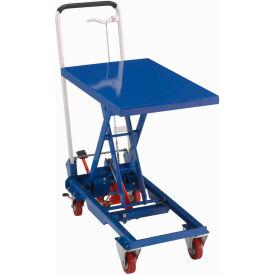 Best Value Mobile Scissor Lift Table with Folding Handle 330 Lb. Capacity - 27 x 17 Platform