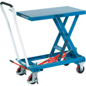Best Value Mobile Scissor Lift Table 550 Lb. Capacity - Single Scissor - 32 x 19 Platform