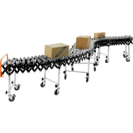 Portable Flexible & Expandable Conveyor - Steel Skate Wheels - 175 Lbs. Per Foot