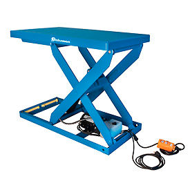 Bishamon® OPTIMUS Lift2K Power Scissor Lift Table 48x36 2000 Lb. Cap. Hand Control L2K-3648