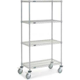 "Nexelate Wire Shelf Truck 36"" W x 18"" D x 69"" H 1200 Lb. Capacity"