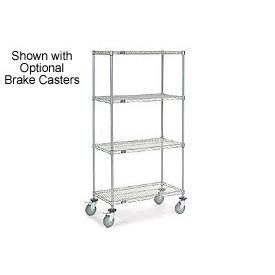 Nexelate Wire Shelf Truck 36x24x69 1200 Pound Capacity