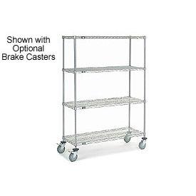 Nexelate Wire Shelf Truck 48 x 24 x 69 1200 Pound Capacity