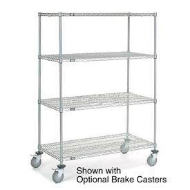 Nexelate Wire Shelf Truck 60x24x80 1200 Pound Capacity