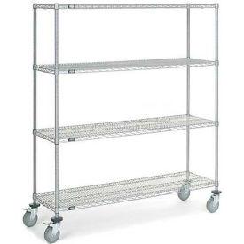Nexel® Chrome Wire Shelf Truck 60x18x69 1200 Pound Capacity