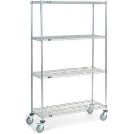 Nexel® Chrome Wire Shelf Truck 48x18x80 1200 Pound Capacity