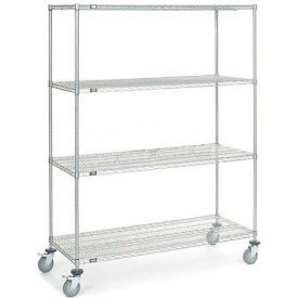 Chrome Wire Shelf Truck 60x24x80 1200 Pound Capacity