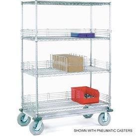 Nexel® Chrome Wire Shelf Truck 48x18x70 1600 Pound Capacity