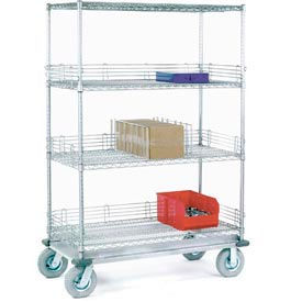 Chrome Wire Shelf Truck 60x24x72 1200 Pound Capacity