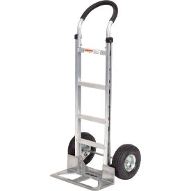 Global Aluminum Hand Truck Curved Handle Mold-On Rubber Wheels