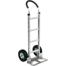 Global Aluminum Hand Truck Curved Handle Pneumatic Wheels