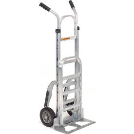 Aluminum Hand Truck Double Handle Mold-On Rubber Wheels