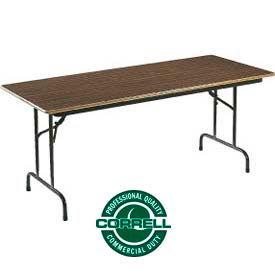 """Correll Folding Table - Laminate - 30"""" X 96"""" - Walnut"""