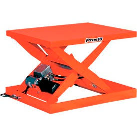 Stationary Powered Scissor Lift Table Hand Operated Control 1000 Lb. Capacity