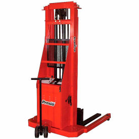 PrestoLifts™ Battery Power Lift Straddle Stacker PSA274 Adj. Legs 2000 Lb.