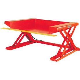 PrestoLifts™ Floor Level Powered Lift Table XZ50-40H Hand Control 4000 Lb.