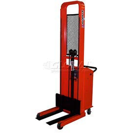 "PrestoLifts™ Pacemaker Battery Powered Lift Stacker B666 1000 Lb. Adjustable 25"" Forks"
