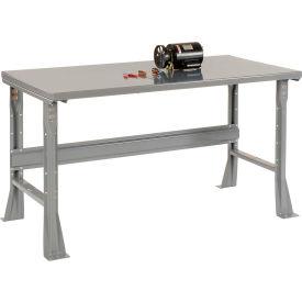 "72""W X 30""D X 34""H Steel Square Edge Workbench - Gray"