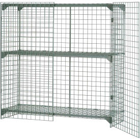 Wire Mesh Security Cage - Ventilated Locker -  48 x 24 x 72