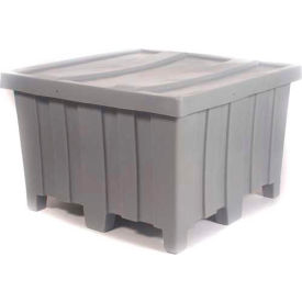 """Myton Forkliftable Bulk Shipping Container MTD-2 with Lid - 44""""L x 44""""W x 29-1/2""""H, Blue"""