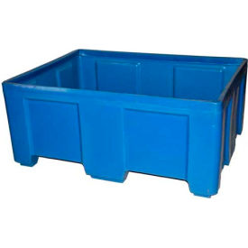 """Myton Forkliftable Bulk Shipping Container SO-5038-2 No Lid - 49-1/2""""L x 37-1/2""""W x 21-1/2""""H, Blue"""