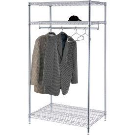 Garment Floor Rack With 12 Hangers, 3-Shelf