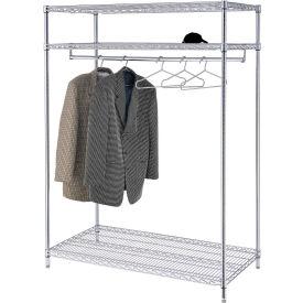 Garment Floor Rack With 18 Hangers, 3-Shelf