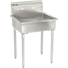 Utility Sink With Drainboard Freestanding : Sinks & Washfountains Freestanding Sinks Stainless Steel Mop ...