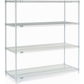 "63""H Nexel Chrome Wire Shelving - 72""W X 30""D"