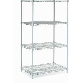 "63""H Nexel Chrome Wire Shelving - 48""W X 36""D"