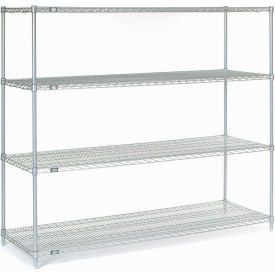 "63""H Nexel Chrome Wire Shelving - 72""W X 36""D"