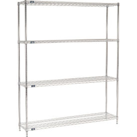 "74""H Nexel Chrome Wire Shelving - 72""W X 14""D"