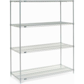 "74""H Nexel Chrome Wire Shelving - 60""W X 36""D"