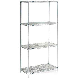 "86""H Nexel Chrome Wire Shelving - 36""W X 30""D"