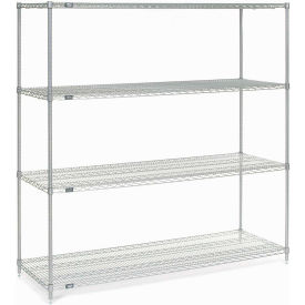 "86""H Nexel Chrome Wire Shelving - 72""W X 36""D"