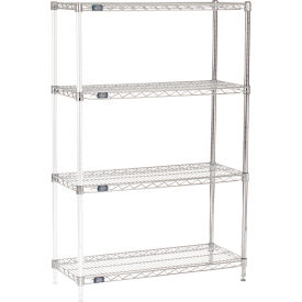 "63""H Nexel Chrome Wire Shelving Add-On - 36""W X 14""D"