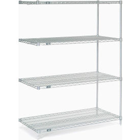 "63""H Nexel Chrome Wire Shelving Add-On - 72""W X 36""D"