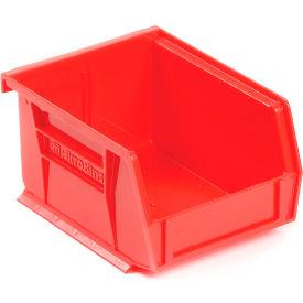"Akro-Mils AkroBin® Plastic Stacking Bin 30210 - 4-1/8""W x 5-3/8""D x 3""H, Red - Pkg Qty 24"